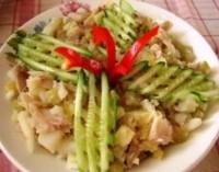 Салат міланський з копченою рибою