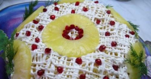 Салат новорічний «Ананасова шапка Мономаха»