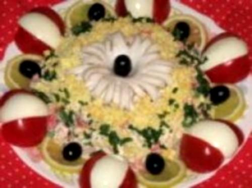 Салат новорічний «Чорна перлина»