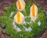Салат новорічний з грибами «Букет каллов»