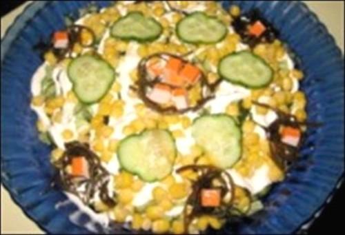 Салат новорічний з морською капустою «Глибоке озеро»