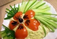 Салат новорічний з печінкою тріски «Макове поле»