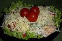 Салат новорічний з тунцем і макаронами