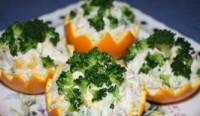 Салат новорічний в апельсинах «Зимовий сон»