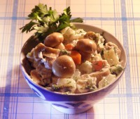 Салат по-французьки з м'ясом