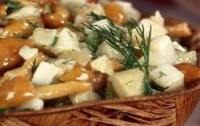 Салат пісний з опеньками і картоплею
