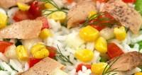 Салат рисовий з рибою (2)