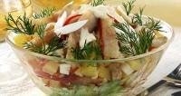 Салат рибний з маринованим перцем