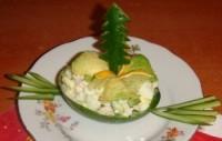 Салат з авокадо «Новорічний сюрприз»