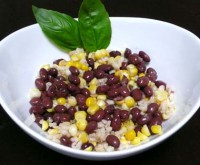 Салат з квасолею, рисом, кукурудзою «Протівопростудний»