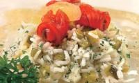 Салат з філе лосося