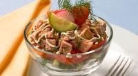 Салат з горбушею і овочами