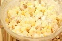 Салат з грибами, куркою і сиром «Новорічний настрій»