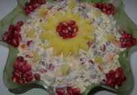 Салат з язиком і ананасом «Різдвяна зірочка»