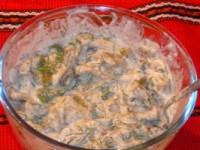 Салат з йогуртом і зеленою квасолею