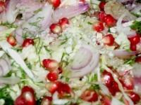 Салат з капусти і граната