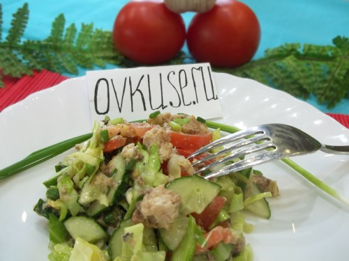 Салат з консервованої сардиной