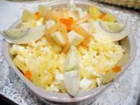 Салат з креветками і ананасом «Буржуйський»