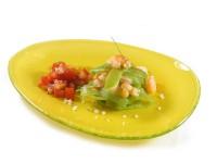 Салат з креветками і зеленою квасолею
