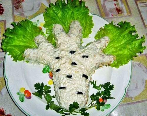 Салат з куркою і сиром «Берізка»