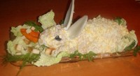 Салат з куркою «Новорічний кролик»