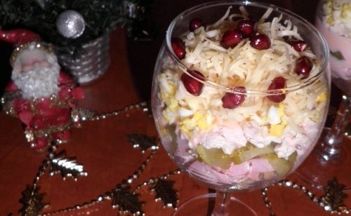 Салат з м'ясним асорті «Новорічний каприз»