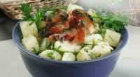 Салат з рибним філе гарячого копчення