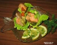 Салат з рибою гарячого копчення під майонезом