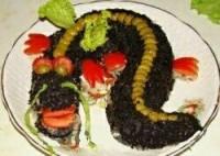 Салат з оселедцем «Чорний дракон»