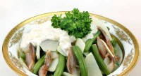 Салат з оселедцем і зеленою квасолею