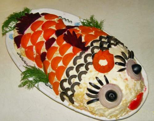 Салат з оселедцем «Рибка»
