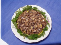 Салат з вешенкой і картоплею