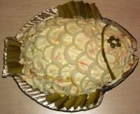 Салат оселедець під шубою «з грибами Рибка»