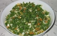 Салат-заготовка з редискою і зеленню