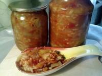 Салат-заготівля з рисом та овочами