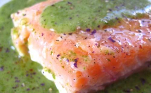 Сьомга маринована з крем-соусом по-французьки