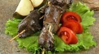 Шашлик з яловичої печінки
