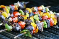 Шашлик з грибів і овочів