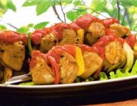 Шашлик з овочів та індички