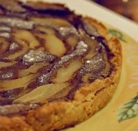 Шоколадно-сирно-грушевий торт