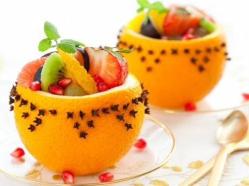 Солодкий салат з фруктів з джемом