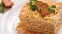 Листковий грибний торт