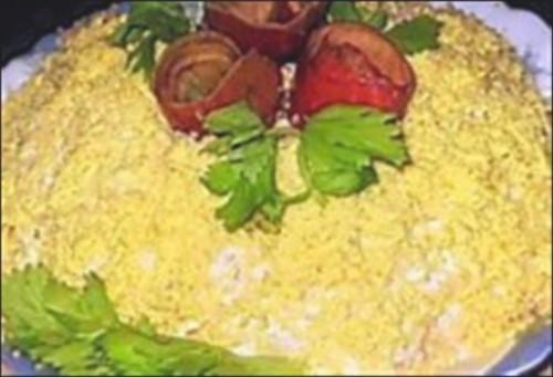 Листковий новорічний салат легкий «Сонечко»
