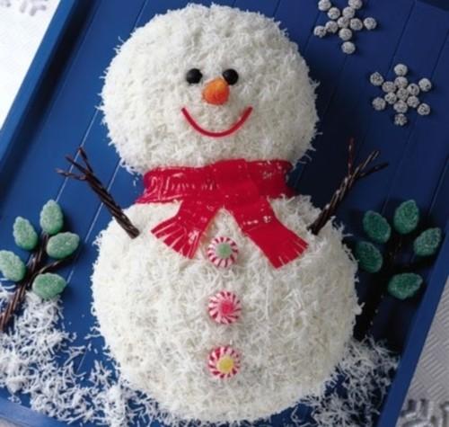 Сметанний торт «Сніговик»