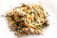 Спагеті «Куряче філе з вершками і грибами»