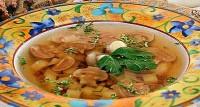 Суп грибний з гречаною кашею
