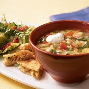 Суп з білої квасолі на швидку руку