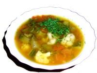 Суп овочевий з яловичим язиком