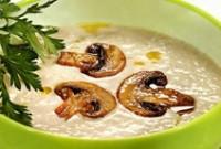 Суп-пюре з грибами і сиром