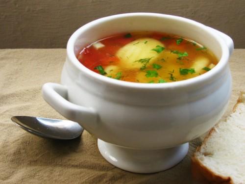 Суп з галушками, рецепти супу з галушками